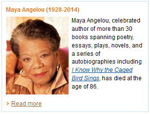 Amazon tribute to Maya Angelou