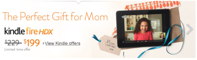 Mother's Day Kindle HDX sale