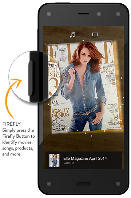 The Firefly button Amazon's Fire Phone