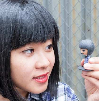 Amazon 3-D printer makes custom personalized bobblehead