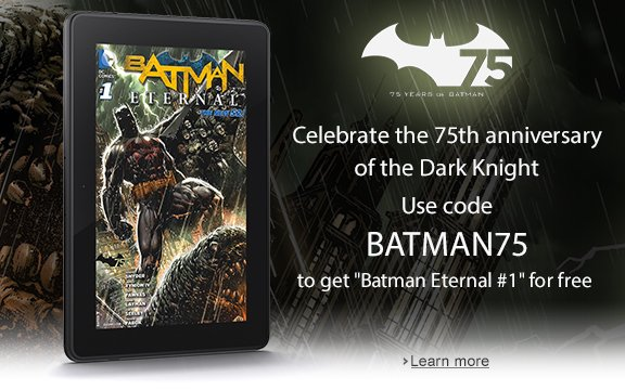 Free Kindle Batman Comic BOok