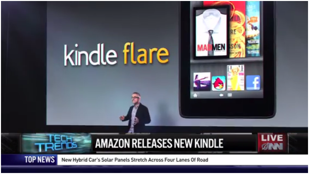 The Onion - Amazon announced Kindle Flare