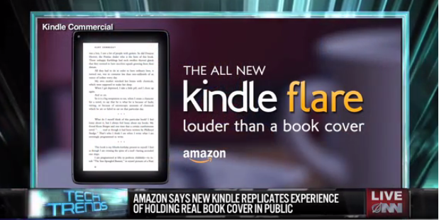 The Onion - fake Amazon Kindle Flare ad