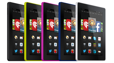 Fire HD7 comes in magenta, cobalt, citron, black, and white