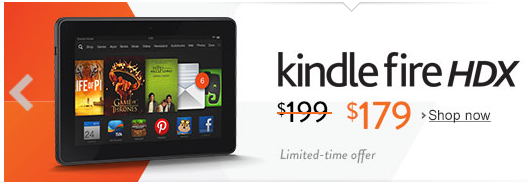 Kindle Fire HDX discount