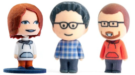 3D Printed Customized Bobbleheads