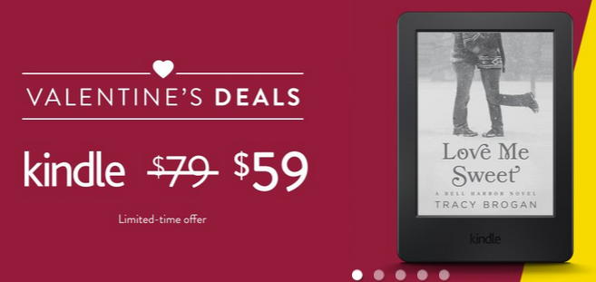 Amazon Discounts Their Kindles for Valentine's Day