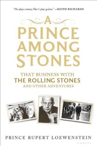 A Prince Among Stones by Prince Rupert Loewenstein - Rolling Stones pictures on book cover