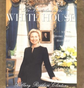 Young First Lady Hillary Clinton photo from Invitation to White House Book