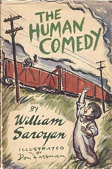 Original cover for William Saroyan's The_Human_Comedy_(novel)