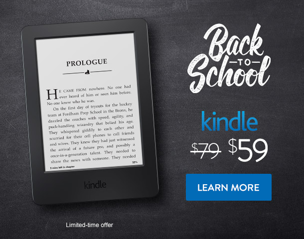 Kindle back to school discount