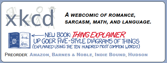 New XKCD diagram book - Thing Explainer