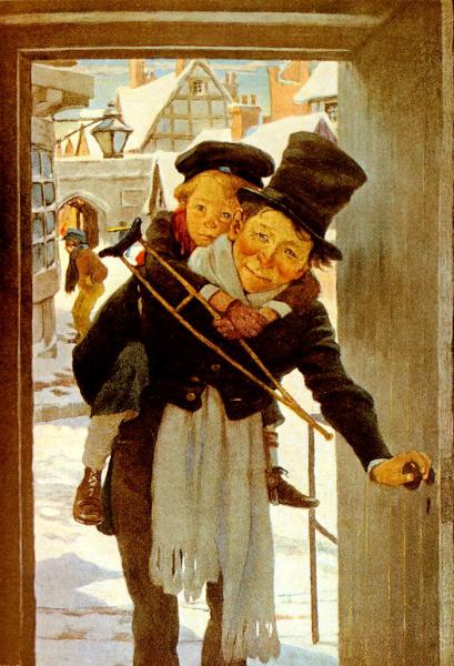 A Christmas Carol original book cover illustration