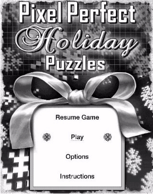 Amazon Kindle game Picture Perfect Holiday Puzzles menu screenshot
